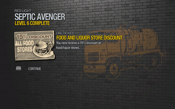 Food and Liquor Store 15% Discount unlocked by Septic Avenger level 6 in Saints Row 2