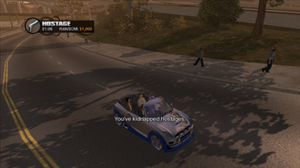 Hostage in Saints Row - You've kidnapped hostages - 1000 cash for Compact with 3 passengers