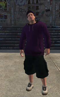 Saints male Thug1-01 - white - character model in Saints Row