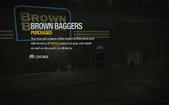 Brown Baggers in Shivington purchased in Saints Row 2