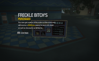 Freckle Bitch's in Amberbrook purchased in Saints Row 2