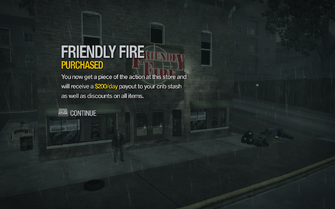 Friendly Fire in Misty Lane purchased in Saints Row 2