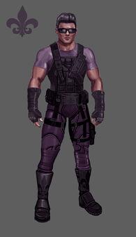 Johnny Gat Concept Art - Super Homie - purple shirt and purple armour
