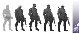 Playa - Saints Row IV Concept Art - 5 male versions