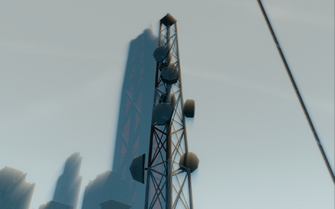 Abandoned office building - broadcasting tower