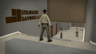 Stilwater Savings & Loan - interior top of stairs