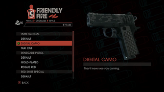 Weapon - Pistols - Quickshot Pistol - 9MM Tactical - Digital Camo
