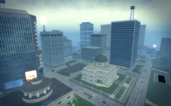 Adept Way in Saints Row 2 - aerial view