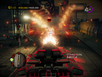 Tank Mayhem - explosion in Saints Row IV
