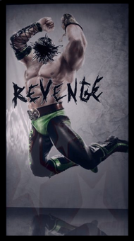 Angel's Gym Revenge poster with Killbane as wrestler