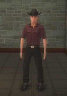 Cowboy - pudgy black clothes - character model in Saints Row 2