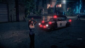 Police Gunslinger - front left with flashing lights in Saints Row IV