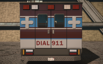 Saints Row IV variants - Ambulance Average - rear