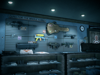 Friendly Fire interior back wall in Saints Row IV