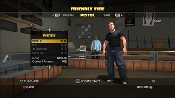 Friendly Fire menu in Saints Row