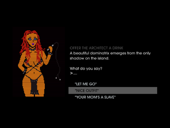 Miller-Space - Text Adventure - Offer The Architect A Drink