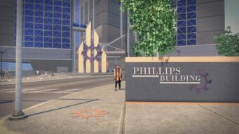Phillips Building - Phillips Building sign showing the correct spelling on Phillips