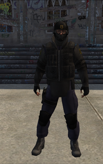 SWAT01 - goggles down - character model in Saints Row