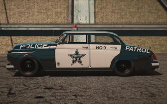 Saints Row IV variants - Gunslinger Police - side