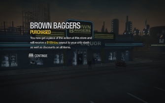 Brown Baggers in Copperton purchased in Saints Row 2