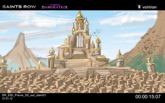 Escape the Dominatrix - castle concept art