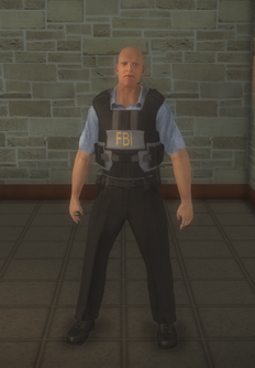 FBI - Black - character model in Saints Row 2