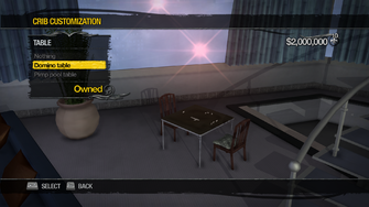 Hotel Penthouse - Crib Customization - Table - Domino table