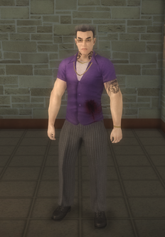 Johnny Gat - blood - character model in Saints Row 2