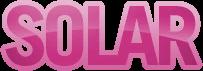 Solar - Genkibowl pink variant logo