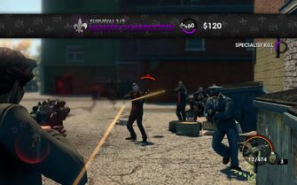 Survival 3 waves completed in Saints Row The Third