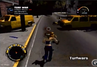 Turfwars activity in Saints Row 2 production footage