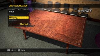 University Loft - Crib Customization - Table - Mahogany