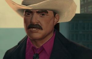 Burt Reynolds closeup on Zombie Attack in Saints Row The Third