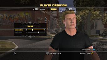 Player Customisation in Saints Row - Skin
