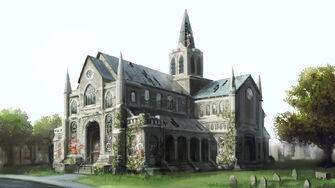 Saints Row Church concept art