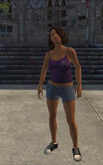 Saints female Thug-01 - black - character model in Saints Row