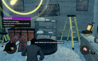 Garage prompt in Saints Row The Third