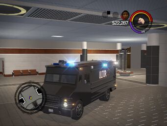 Peacekeeper - ultor variant - front left corner in Saints Row 2