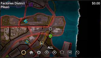 Pilsen map in Saints Row