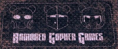 Armored Gopher Games logo on building in Saints Row IV