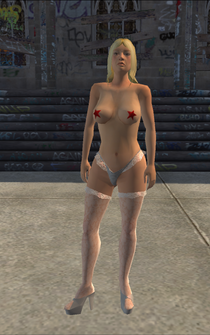 Stripper - White - pasty - character model in Saints Row