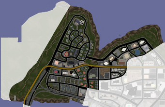 Suburbs map in Saints Row