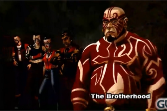The Brotherhood concept art - 4 gang members and Maero