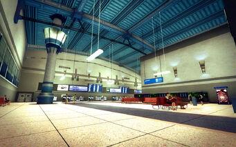 Wardill Airport building - hall