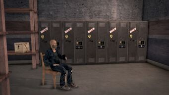 Donnie's - Interior in Saints Row 2 - storeroom lockers