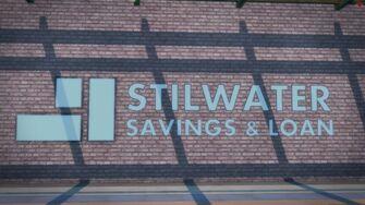 Stilwater Savings & Loan - closeup of front sign