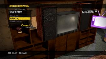 University Loft - Crib Customization - Home Theater - 24 inch TV