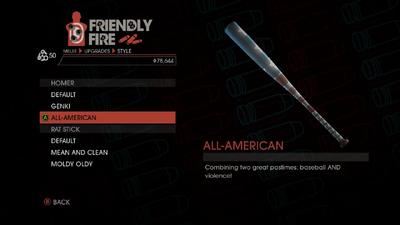 Weapon - Melee - Baseball Bat - Homer - All-American