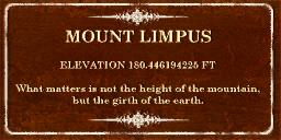 Amberbook - Mount Limpus sign