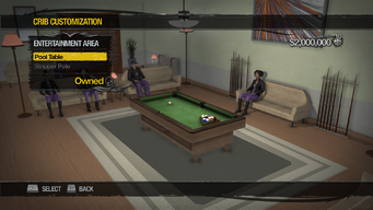 Downtown Loft - Crib Customization - Entertainment Area - Pool Table